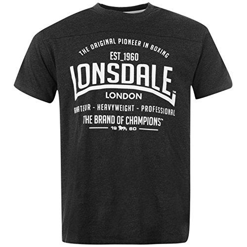 Lonsdale - Camiseta de manga corta para hombre, cuello redondo, camiseta de...