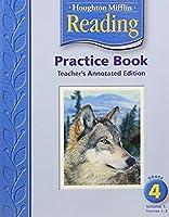 Houghton Mifflin Reading: Practice Book,Volume 1 Grade 4, Teacher Annotated Edition 061838488X Book Cover