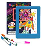 KOOKOOSMART Magic Board for Kids, Light Up Drawing Board , 36 Light Effect, Doodle Board Glow Board for Kids with Highlighter, Led Luminous Gifts, Educational Toys, Suitable for Kids Age 3+ (Blue)