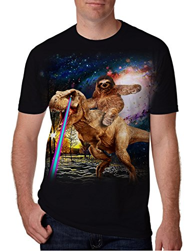 80s Mens Graphic Tees 3D Print Cool Dloth Riding The Dinosaur Pattern T-Shirt Crew Neck Summer Casual Short Sleeve Boys Sport Workout Tops Clothes S