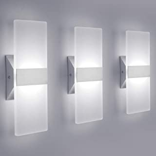 LED Wall Sconce Modern Wall Light Lamps 12W Cool White...