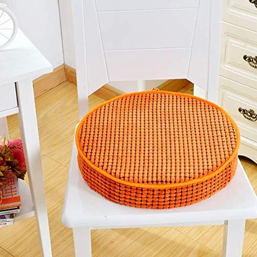 erddcbb Dining & Garden Chair Booster-Kissen, Velvet Soft Chair Pads für Küchenstühle, Garden Seat Kissen-8cm Dickrosa Rot Rund: 40cm / 16'