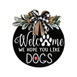 SPORTTIN Welcome Sign for Wreath Front Door Decor Wood Hanging Welcome Wreath (A)