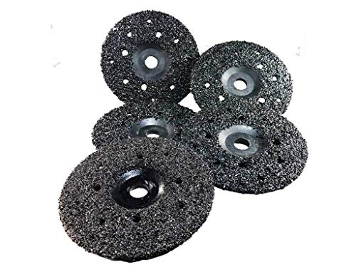 5 Pack of Ultra Wheels GRIT 8 Grinding Silicon Carbide Heavy Duty Discs Arbor 7/8'-11 - Diameter 7'