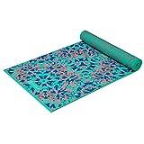 Gaiam Premium Reversible Print Yoga Mat, Extra Thick Non Slip Exercise & Fitness Mat for All Types of Yoga, Pilates & Floor Exercises, Kaleidoscope, 5/6mm