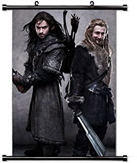 Home Decor Art Movie Poster with Kili And Fili The Hobbit An Unexpected Journey Movie Wall Scroll Poster Fabric Painting 23.6 X 35.4 Inch (60cm X 90 cm)