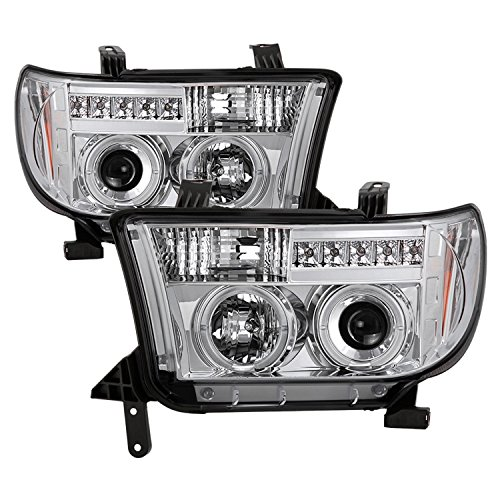 Spyder Auto 5012036 LED Halo Projector Headlights Chrome/Clear