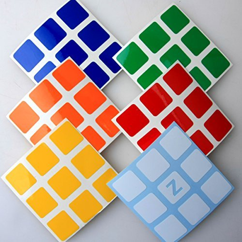 Z Stickers for 5.7cm 3x3x3 Speed Cubes . A Set of Stickers for Replacement . Standard Bright.