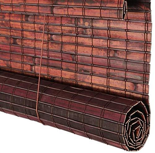 RONGXUE bamboe jaloezieën Rolluik, houten jaloezieën, handmatige aanpassing van houten jaloezieën waterdicht eenvoudige installatie buitenwand waterdicht gordijn