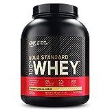 Optimum Nutrition ON Gold Standard 100% Whey Proteína en Polvo, Glutamina y Aminoácidos Naturales, BCAA, Crema de Vainilla Francesa, 76 Porciones, 2.28kg, Embalaje Puede Variar