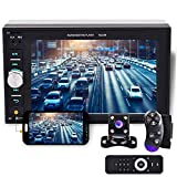 Camecho 2 din Car Multimedia Player 1080P Full HD 6.2' LCD Touch Screen Car Stereo Audio MP5 Player Support Bluetooth/TF/USB/FM Radio&Android Phone Mirror Link+Steering Wheel Control&Backup Camera