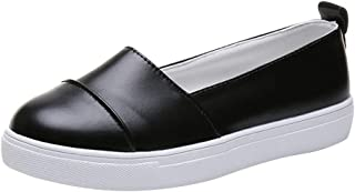 〓COOlCCI〓Women's Round Toe Loafers Comfort Walking & Driving Slip-on Flat Shoes Loafers Sneaker