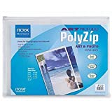 Itoya PolyZip Art & Photo Envelope with Clear Front Pocket and Zip Closure, 8 X 11 inches (AZ-8-11)
