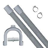 Manguera de desagüe extendida de 2 m, manguera de desagüe retráctil, que se puede utilizar para el kit de extensión de la manguera de desagüe de la lavadora / secadora / lavavajillas.