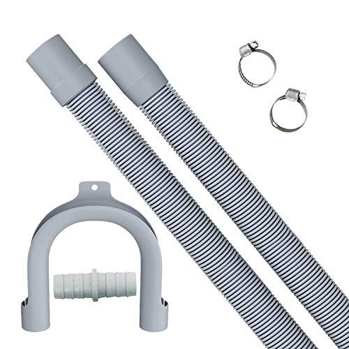 Tubo di scarico lungo 2 m, tubo di scarico retrattile, utilizzabile per kit di prolunga tubo di scarico per lavatrice/asciugatrice/lavastoviglie