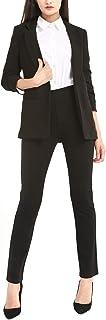 بناطيل Balleay Art Dress Pants للنساء مستقيمة الساق تمتد نحيل صالح للعمل عارضة