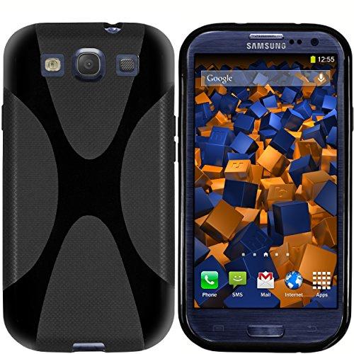 mumbi Hülle kompatibel mit Samsung Galaxy S3 / S3 Neo Handy Hülle Handyhülle, schwarz