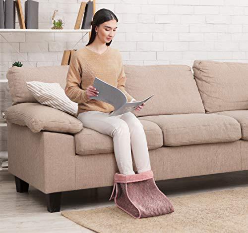 YS-Bio Produkt Fußwärmer in der Größe 30 * 30 * 30 cm, Fußsack, Fußpflege (Rosa)