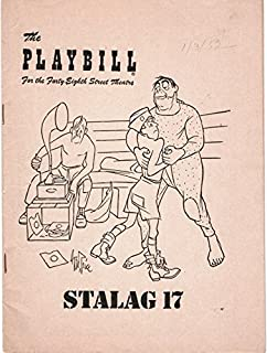 Playbill for the Forty-Eighth Street Theatre: Stalag 17 (John Ericson, Harvey Lembeck, Laurence Hugo, Frank Maxwell, Harold J. Stone)