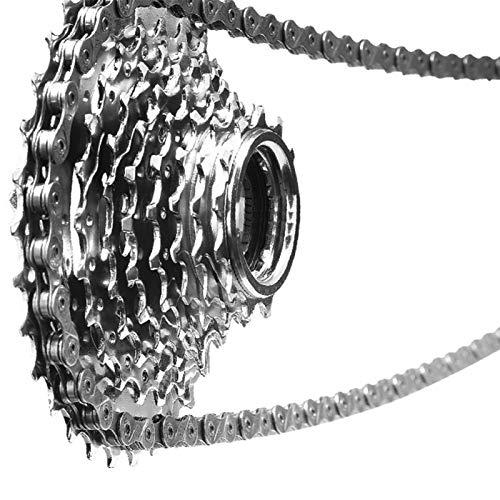 Demeras Verschleißfeste Fahrradkette Ersatzketten Zubehör robuste Renn-Mountainbike-Kette Hohe Haltbarkeit für Home Entertainment