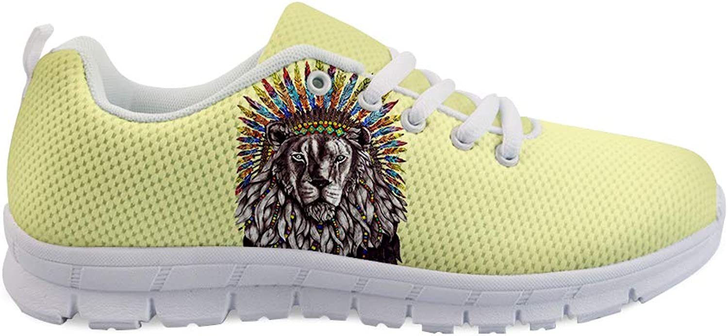 Owaheson Lace-up Sneaker Training shoes Mens Womens Resta Reggae Indian Tribe Lion