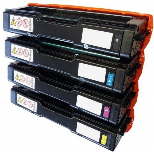 Eurotone Print Cartridges für Ricoh Aficio : SP C220 A/ SP C220 N/ SP C220 S/ SP C221 N/ SP C221 SF/ SP C222 DN/ SP C222 SF/ SP C240 DN/ SP C240 SF ersetzten BK C Y M Patronen im Spar Set - kompatible Premium Kit Alternative - non oem