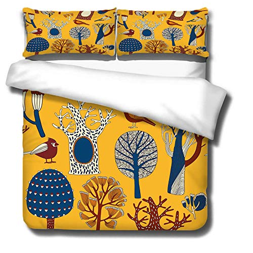 Duvet Cover Set 3 Piece,3D printing Duvet Set Bedding Set for 240 * 220cm King Bed with 2 Pillowcases.Adult and child's style: cartoon pictures