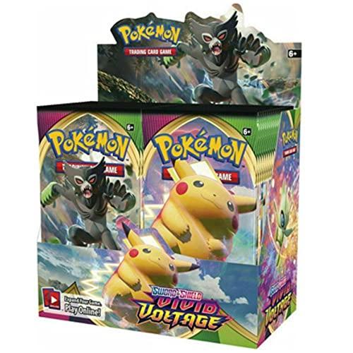 Pokemon Épée et Bouclier Carte Épée et Bouclier Battle Card Vivid Voltage Booster Box - 36 Packs (360pack/1boîtes)(copie anglaise)