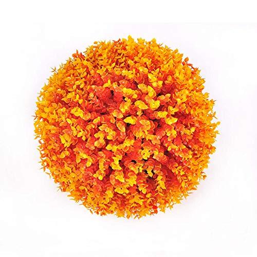 Konstgjord Buxbom boll, Gröna Konstgjorda Gräsbollar, Högkvalitativa Konstgjorda Torrbollar, Anti-ultraviolett och Anti-blekning, för Dekoration Inomhus och Utomhus