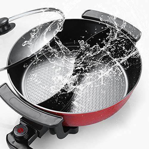 WYING 6L Große Kapazität Indoor Hot Pot Chafing Dish, Elektrogrill, Haushalt Multifunktionale Antihaft-Pfanne Elektroherd für Zuhause, Küche, Party