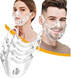 JXXH Durable Transparent Face_Shield with Valve, Adults Clear Face_Shield Reusable Washable Breathable, Covering to Protect Eyes, Nose, Mouth for Adults Men Women (Transparent)