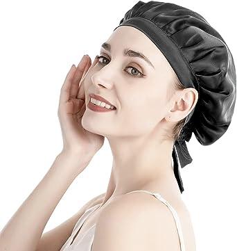 【美容のプロ推薦】 高級シルク ナイトキャップ 天然シルク100% 枝毛防止 保湿美髪 摩擦軽減 おやすみキャップ ナイトヘアキャップ ロングヘア ショートヘア対応 ヘアキャップ就寝用 妊娠用 産後用 紐付き サイズ調整可能