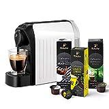 Tchibo Cafissimo easy Kapselmaschine (für Kaffee, Espresso und Caffè Crema) inkl. 30 Kapseln, Weiß