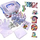 imoli Tie Dye Kit - Peintures textiles 18 couleurs vibrantes, Ensemble de teinture permanente en une étape, Idéal pour le bricolage de mode (couverture de surface réutilisable incluse)