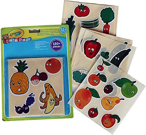 Crayola Mini Kids Aufkleber für Früchte und Gemüse, wiederverwendbar, 81-2010-E-000