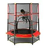 Berkalash Cama elástica para niños para deportes de interior y exterior, con red de seguridad y cubierta de marco, para niños