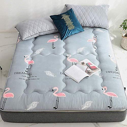 Grueso Plegable Futon Colchón, Portátil Suave Tatami Alfombra del Piso Acolchada Japonés Almohadilla para Dormir para Dormitorio Sala Cámping (Color : B, Size : King:180x200cm(71x79inch))