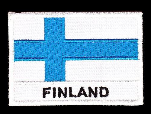 Aufnäher Bügelbild Aufbügler Iron on Patches Applikation Finland Flagge Finnland