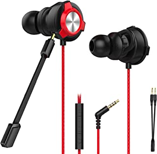 CLAW G9X Single Driver Gaming Earphones with Adjustable Boom & in-line Mic, Volume Control, Mute Switch & 3D Stereo Sound ...