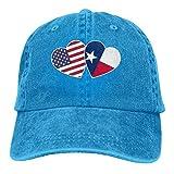 Gorra De Béisbol Unisex Bandera Americana De Texas Twin Heart Gorra Trucker Ajustable Hockey Béisbol Gorras Protección Solar UV Classic BB Cap Respirable Hip Hop Sombreros