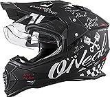 Oneal Sierra II Helmet Torment Black/White L (59/60cm) Casco, Adultos Unisex