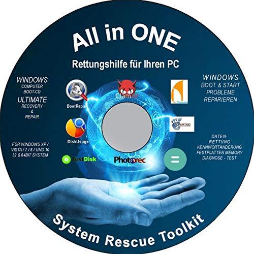 Erste Hilfe SOS All in One CD Datenrettung, Wiederherstellung gelöschter Daten, Dateien, Bilder