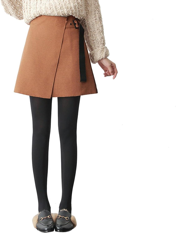 TSINY G Women's Elegant High Waist Irregular Skirt Fashion Autumn Winter Slim Aline Skirt ( color   Light tan , Size   XL )