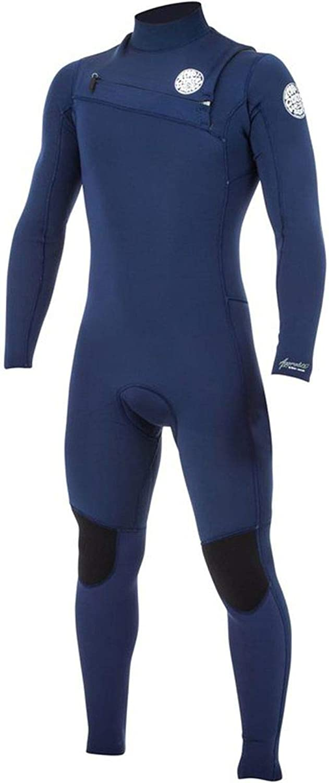 Rip Curl Aggrolite Chest Zip 3 2 Wetsuit, Navy, XLarge