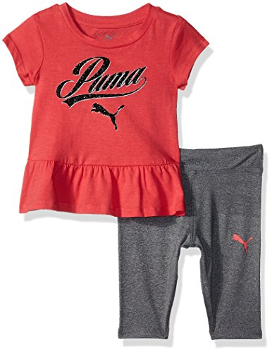 PUMA baby meisjes Legging PUMA Girls' 2 Piece Jersey Tee & Capri Set