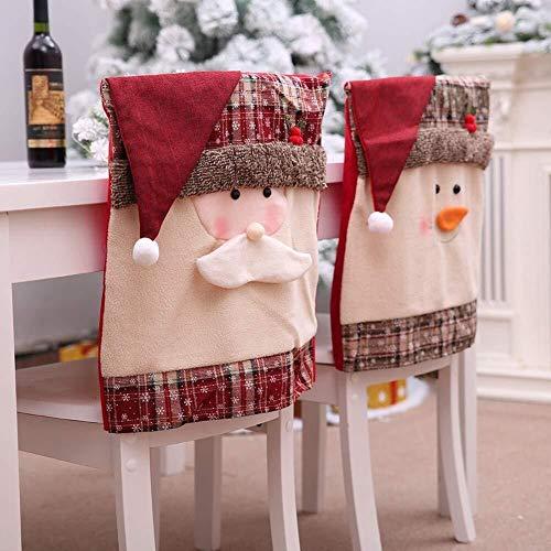 JUNGEN 2PCS Fundas de Silla Decoración de Navidad Funda Elástica Cubierta de Asiento Forro de Silla Doméstico Comedor Regalo