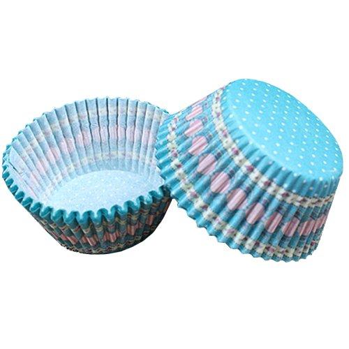 Beiersi Moules en Papier Caissettes à Cupcakes pour Muffin Décor Lot de 100