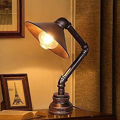 1 ---- Lámparas de robot de tubería de agua de hierro creativas de alta calidad, corrosión resistente al desgaste, duraderas. 2 ---- Adecuado para sala de estar, dormitorio, mesita de noche, lectura, luces decorativas de oficina, es la opción ideal p...