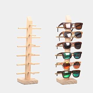 Z.N.Z Soporte para gafas de sol de madera, organizador de joyas, soporte para gafas, soporte para joyas, estante de madera...