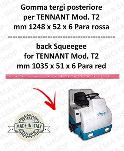 7200 Gummi Scheibenwischer hinten Para rot für Bodenwischer TENNANT - Squeegee 900 mm
